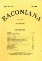 Baconiana 5 issues bundle (second hand)